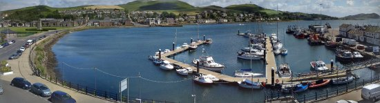 The Royal Hotel : View from room over the Marina and Loch