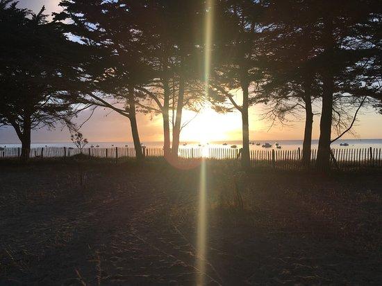 L 39 estacade au bois de la chaise lev de soleil au camping photo de camping huttopia - Camping bois de la chaise noirmoutier ...