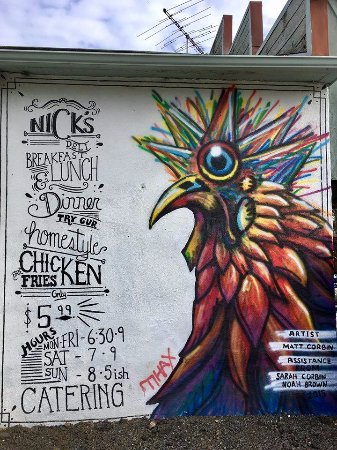 Marshall, VA: Mural @ Glascock Grocery/Pam's Kitchen (formerly Nick's Deli)
