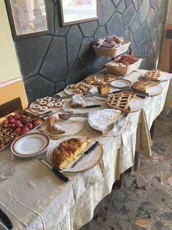 Riolunato, Italy: Ogni mattina, 6 a 8 torte varie fatte in casa.