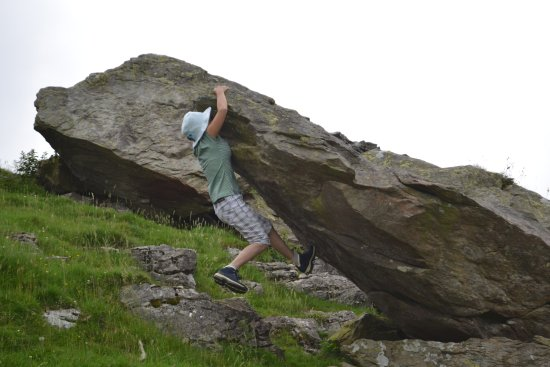 Norber Erratics: My wife just holding on