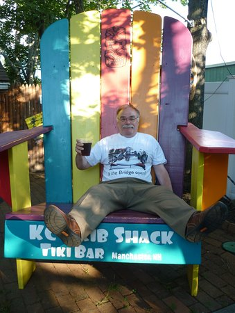 KC's Rib Shack: It's the special chair!!