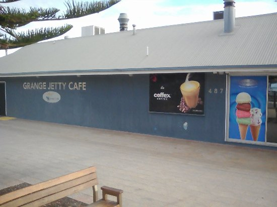 The side of Grange Jetty Cafe