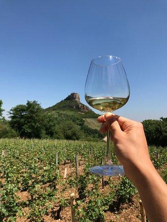 Solutre-Pouilly, Frankrig: La vue et le vin