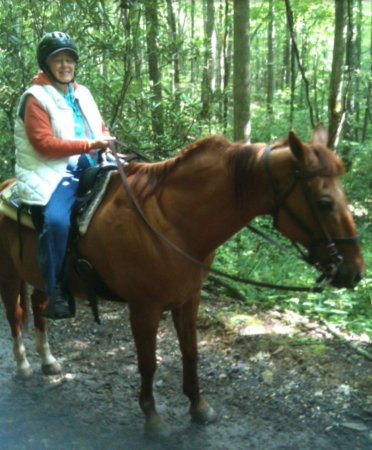 Smokemont Riding Stables: Carly took a picture of me along the trail.