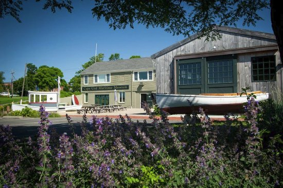 Hyannis Port, MA: The museum from the harbor front on a beautiful Cape Cod day!