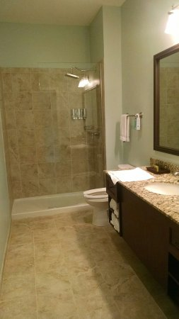 Natchitoches, LA: Nice bathroom, love the rainfall showerhead and the shampoo dispenser! So trendy!!