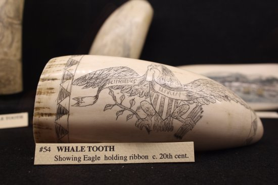 Hyannis Port, MA: CCMM houses the Cape's largest publicly displayed scrimshaw collection, which this piece is part