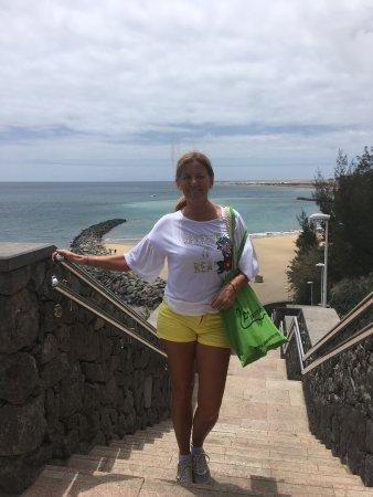 Una visita de argentina que tiene un hotel y vino a conocer gran Canarias que la lleve yo
