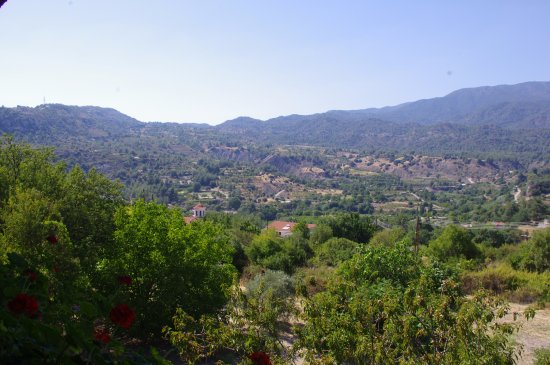 Trimiklini, Cyprus: The view from the table