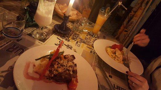 Caravane Cafe : steak viande