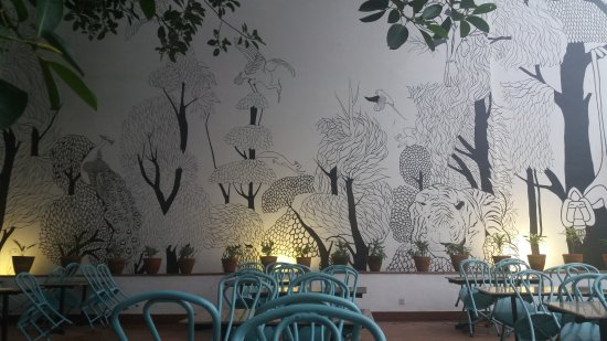 Beautiful Wall Painting   Picture Of Samu0027s One Tree Cafe, Kathmandu    TripAdvisor