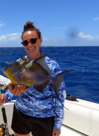 Capt. Alvin Fishing Charters: Queen Triggerfish - boy they can fight!