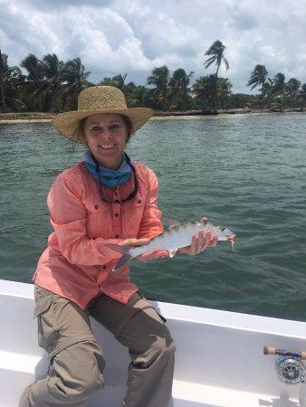 El Pescador Resort: The wife with one of her Bonefish