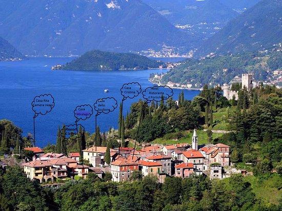 Perledo, Italien: vista aerea