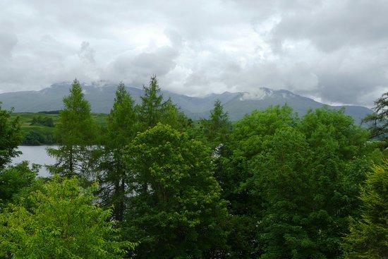 Portsonachan Hotel: Loch Awe and Ben Cruachan from the cabin balcony