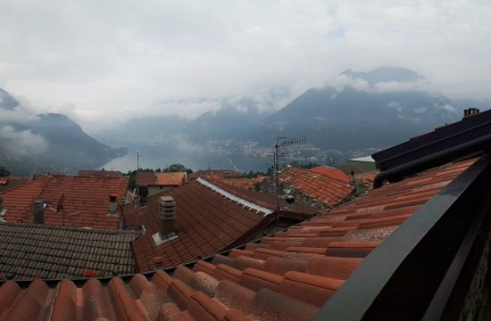 Faggeto Lario, Włochy: Terrace view
