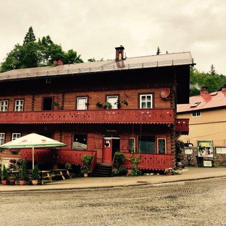 Miedzygorze, Polen: Cafe Marianna. Tu na rogu