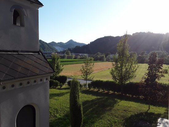 Lasko, Slovenia: View from the room on the 1st floor