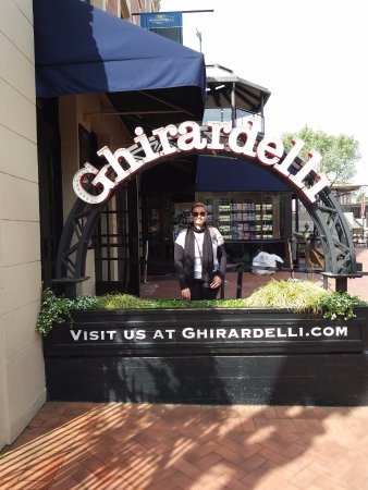 Ghirardelli Square where I had THE BEST hot chocolate EVER - Picture