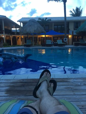 El Pescador Resort: After a long day fishing its pool and bar time....