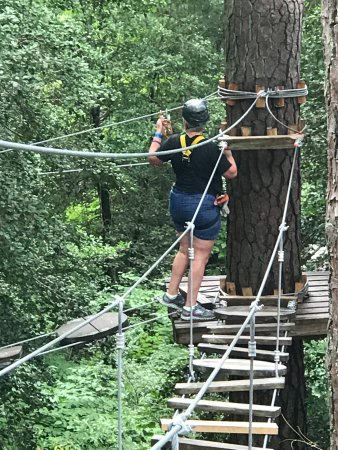 Tree top adventure picture of callaway gardens pine mountain tripadvisor for Callaway gardens treetop adventure