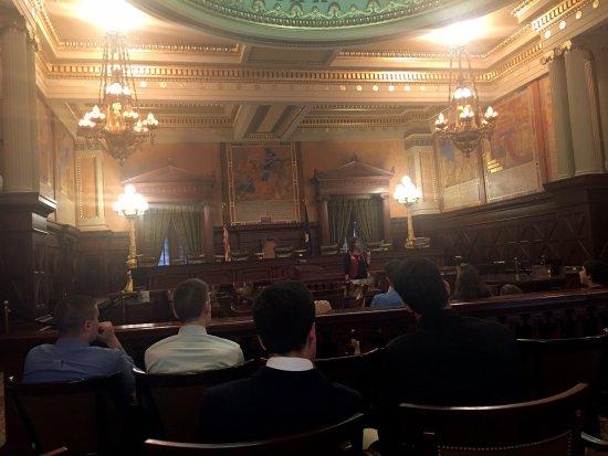 Pennsylvania State Capitol: Supreme Court room