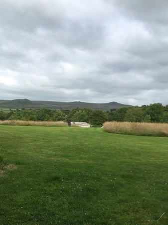 Lydford Caravan & Camping Park: From top of field on site