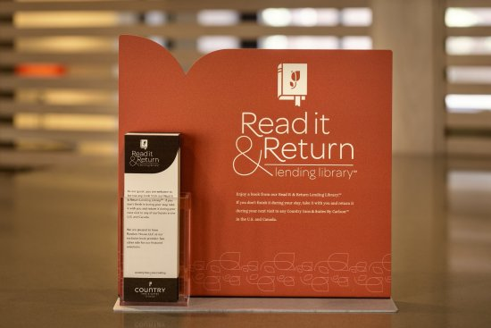 Country Inn & Suites By Carlson: Read it & Retyrn book library