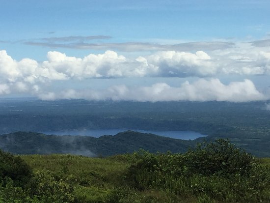 Tierra Day Tours:  Granada: View of Grenada bay from Mombacho Volcano