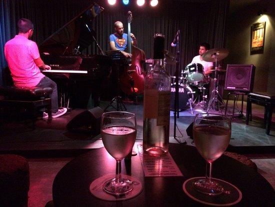 Hot Clube de Portugal: Jazz concert at Hot Club de Portugal. João Pedro Coelho, António Quintino, João Lopes Pereira