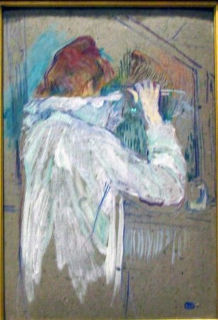 Musee des Augustins: Toulouse-Lautrec Femme se frisant les cheveux