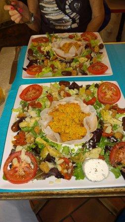 Crissay-sur-Manse, Frankrig: Esta es la ensalada vegetariana y......