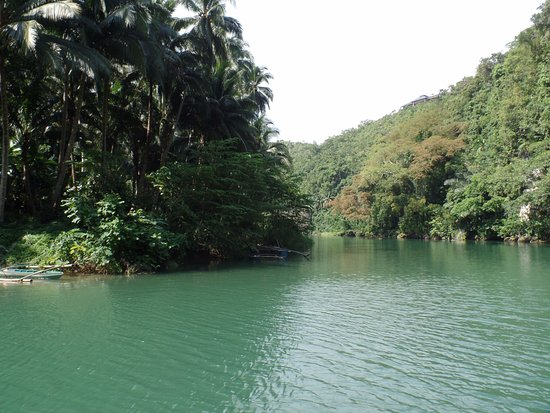 Loboc, Philippines: The view ahead of the boat.