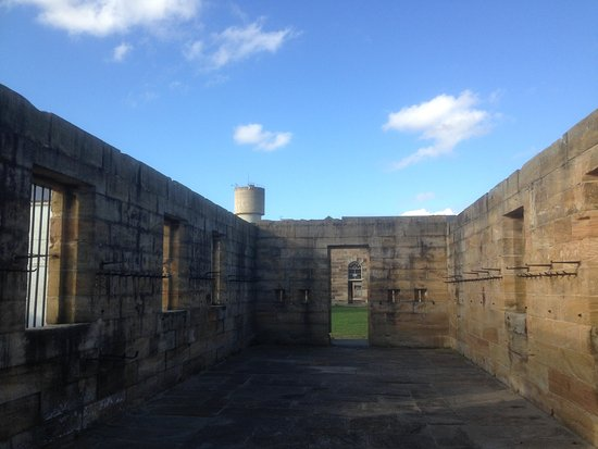 One of the abandoned prison cells on the hilltop of Cockatoo Island