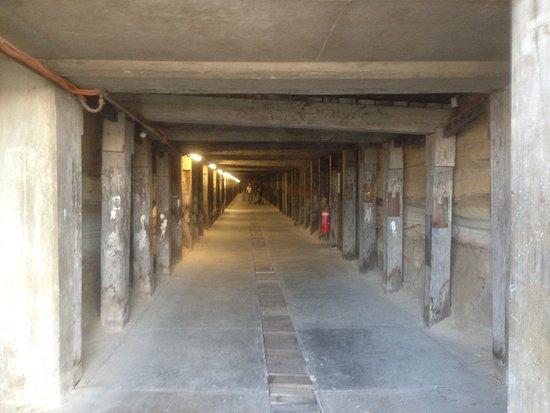 A hidden tunnel beneath the hill on Cockatoo Island