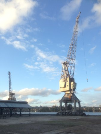 Cranes at the northern part of Cockatoo Island, where the old shipyard stands.
