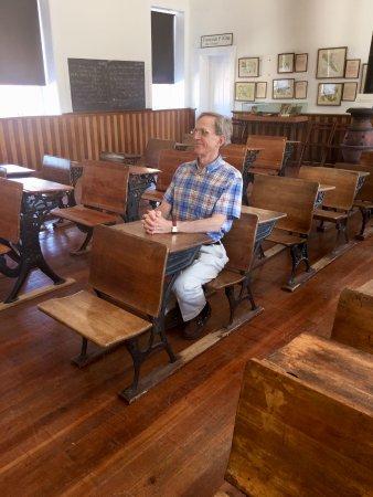 Tubac, AZ: The school house & my husband the pupil!