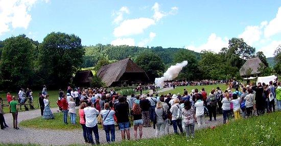 Gutach im Schwarzwald, Jerman: Justo en el momento del disparo del cañón; nos asustó a todos.