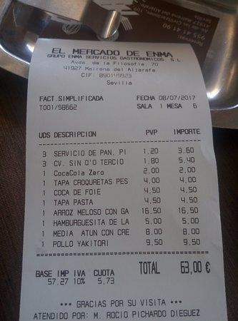 Mairena del Aljarafe, Spanien: Cuenta