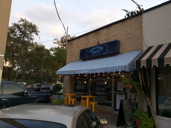 Corner Taco at twilight.