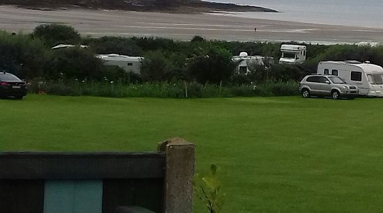 Moelfre, UK: View from our motor home beautiful
