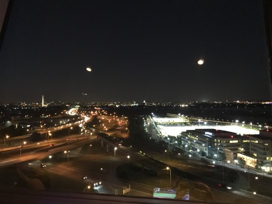 DoubleTree by Hilton - Washington DC - Crystal City: View from revolving restaurant at the top of the hotel