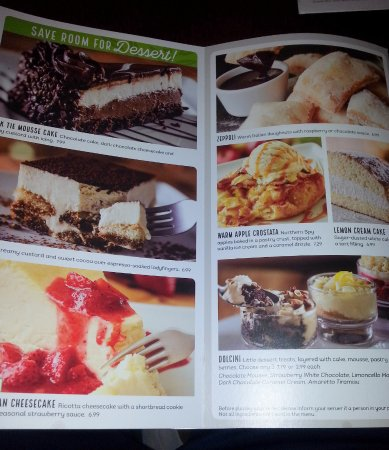 olive garden the dessert menu though not this time - Olive Garden Lunch Time