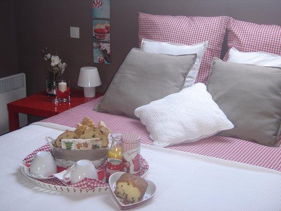 Grangues, Fransa: chambre rose des sables