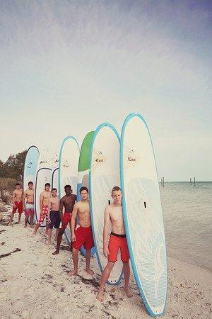 Isla Anna Maria, FL: Team building paddleboard trip!