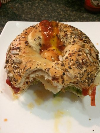 Kingston, NY: Everything Bagel with the works.