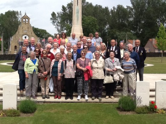 Bélgica: Travellers on the Leger All Quiet on the Western Front tour in June 2017