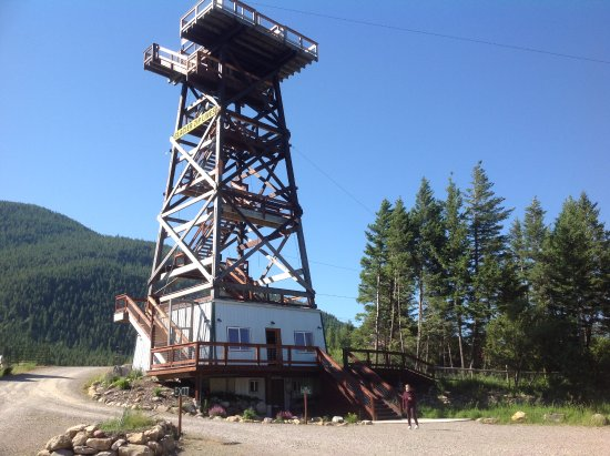 Columbia Falls, MT: The Tower you walk up to start