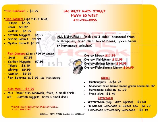Swainsboro, GA: CHECK OUT OUR MENU